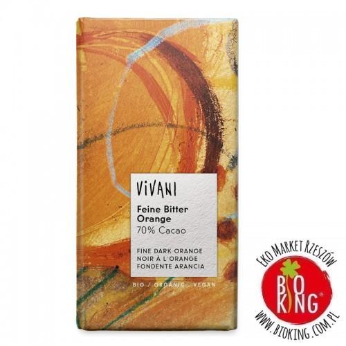 Czekolada gorzka o smaku pomarańczy bio Vivani