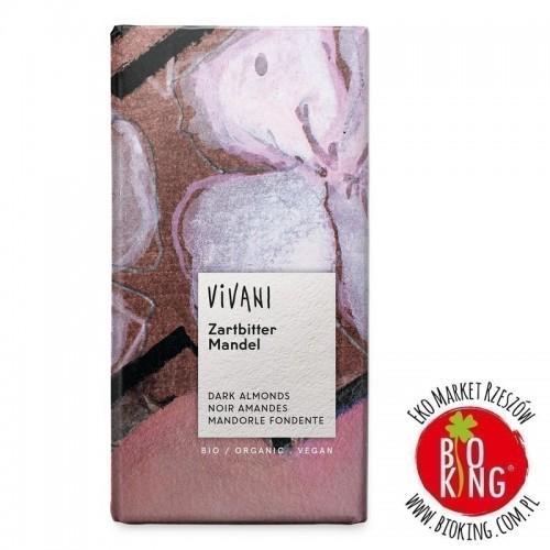 Czekolada gorzka z migdałami bio Vivani