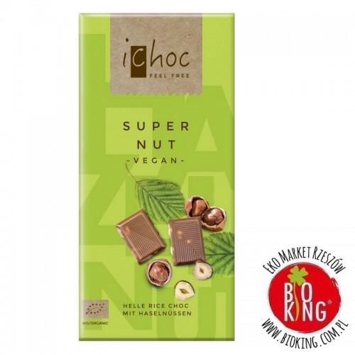Ichoc czekolada z orzechami laskowymi na napoju ryżowym bio Vivani