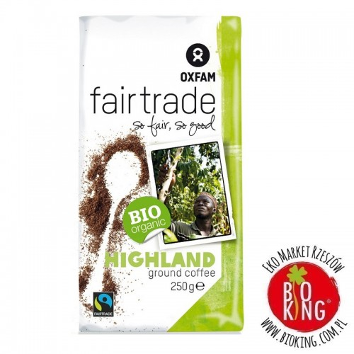 Kawa mielona arabica/robusta wysokogórska fair trade bio Oxfam