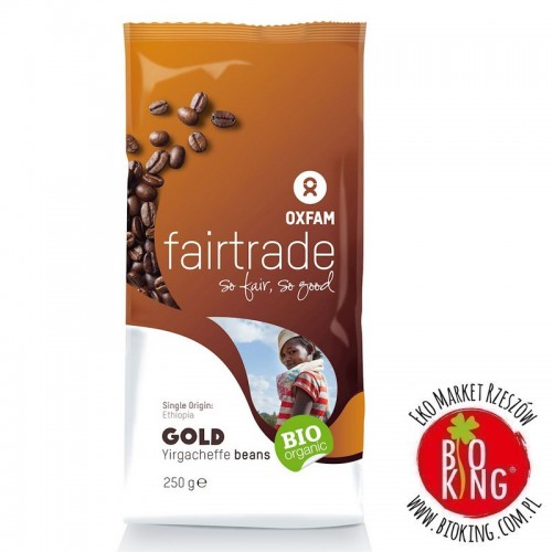 Kawa ziarnista arabica 100% Yirgacheffe Etiopia fair trade bio Oxfam