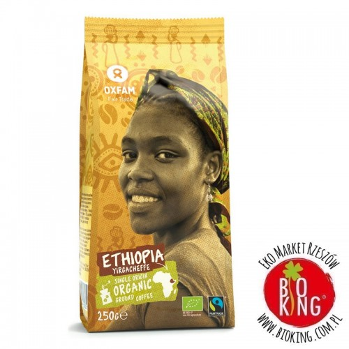 Kawa mielona arabica 100% Yirgacheffe Etiopia bio fair trade Oxfam