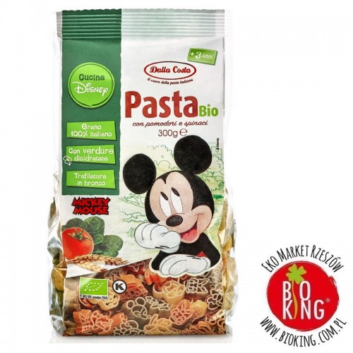 Makaron semolinowy trójkolorowy Disney Mickey bio Dalla Costa