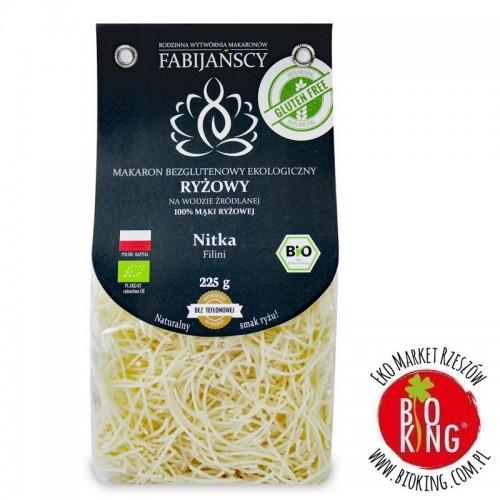 Makaron z ryżu białego nitka filini bezglutenowy bio Fabijańscy