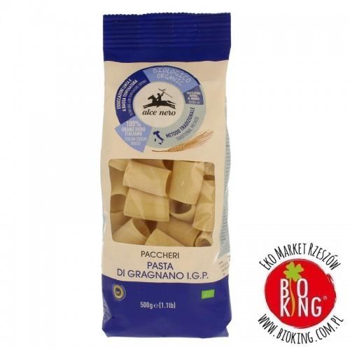 Makaron semolinowy paccheri bio Alce Nero