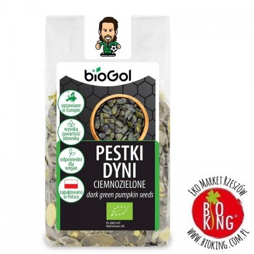 Pestki dyni ciemnozielone uprawiane w Europie bio Biogol