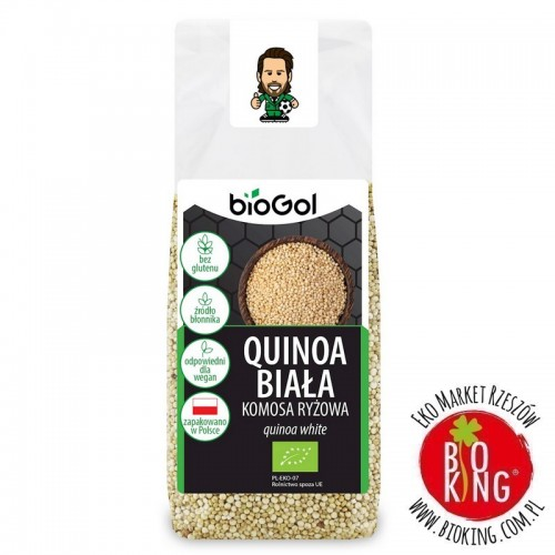 Quinoa biała komosa ryżowa bezglutenowa bio Biogol