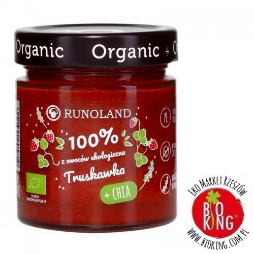 Słodka przekąska truskawka z nasionami chia bio Runoland