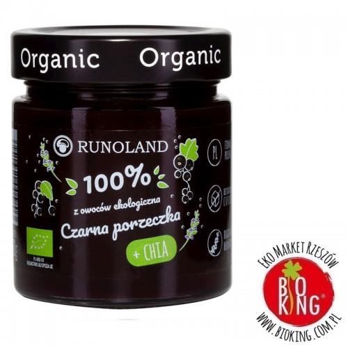 Słodka przekąska czarna porzeczka z nasionami chia bio Runoland
