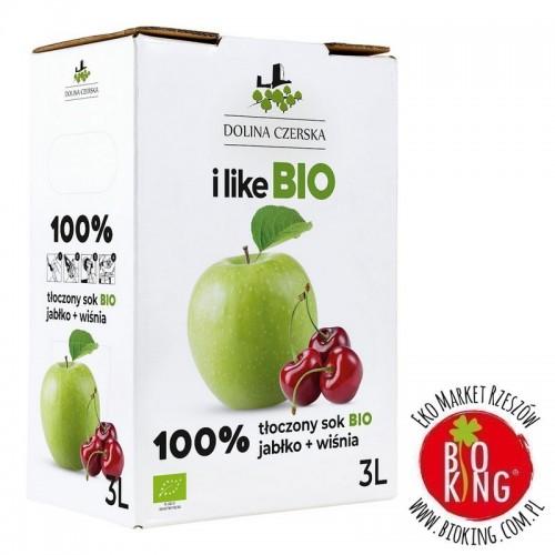 Sok jabłkowo wiśniowy NFC bio 3L Dolina Czerska