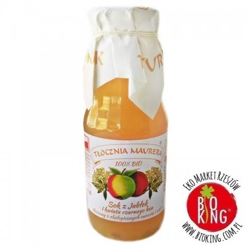 Sok jabłkowy z kwiatem czarnego bzu NFC bio Tłocznia Maurera