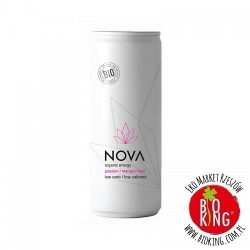 Napój energetyzujący o smaku marakuja mango mięta bio Nova