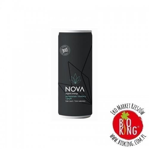 Napój energetyzujący o smaku granat jagoda imbir bio Nova