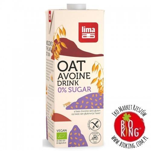 Napój owsiany nie zawiera cukrów bezglutenowy bio Lima
