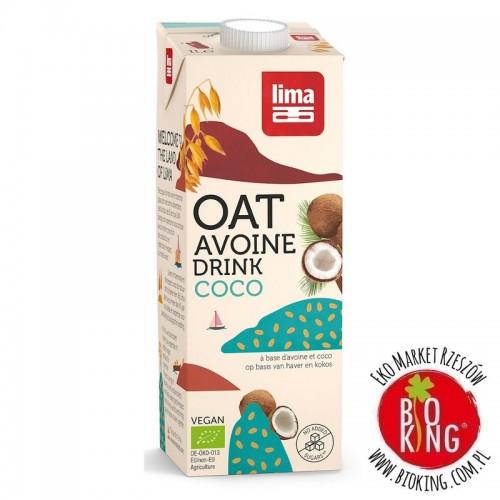Napój owsiano kokosowy bez dodatku cukrów bio Lima