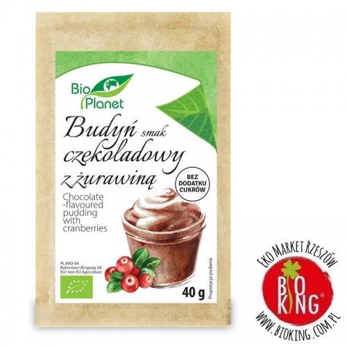 Budyń o smaku czekoladowym z żurawiną bio Bio Planet
