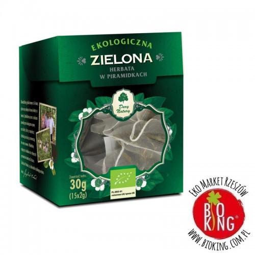 Herbata zielona piramidki bio Dary Natury
