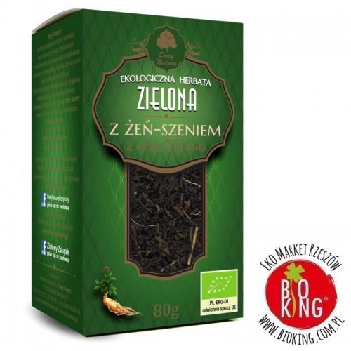 Herbatka zielona z żeń szeniem bio Dary Natury