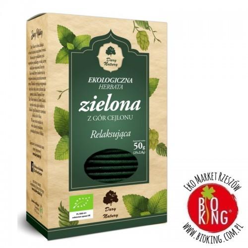 Herbata zielona relaksująca bio torebki Dary Natury
