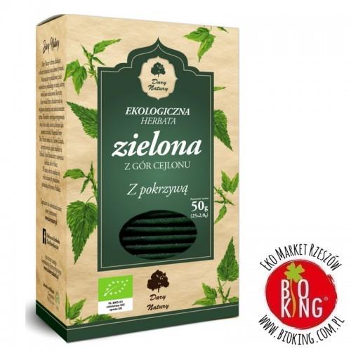 Herbata zielona z pokrzywą bio torebki Dary Natury
