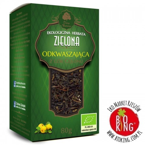 Herbata zielona odkwaszająca bio Dary Natury