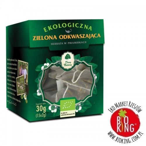 Herbata zielona odkwaszająca bio piramidki Dary Natury