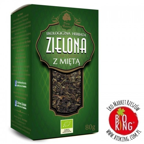 Herbata zielona z miętą liściasta bio Dary Natury