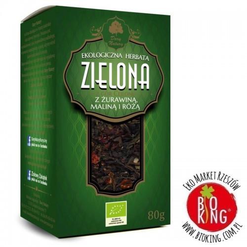 Herbata zielona z żurawiną, maliną i różą bio Dary Natury