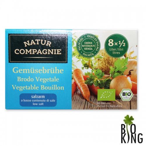 Bulion- kostki warzywne o obniżonej zawartości soli Natur Compagnie