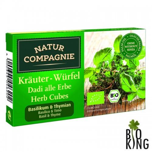 Bulion -kostki ziołowe z bazylią i tymiankiem bio Natur Compagnie