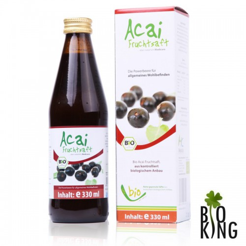 Sok z jagód acai i owoców granatu