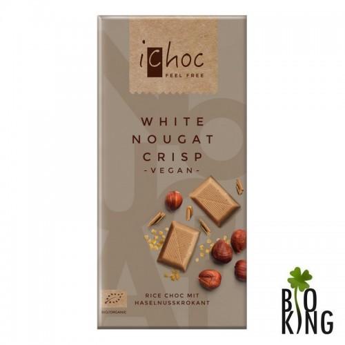 Tabliczka nugatowa biała na napoju ryżowym Ichoc