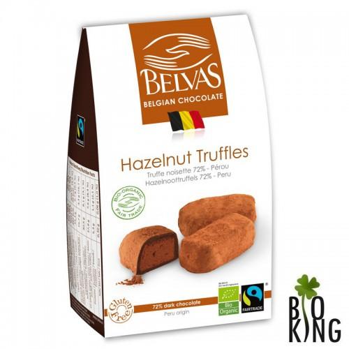 Belgijskie czekoladki trufle z orzechami laskowymi