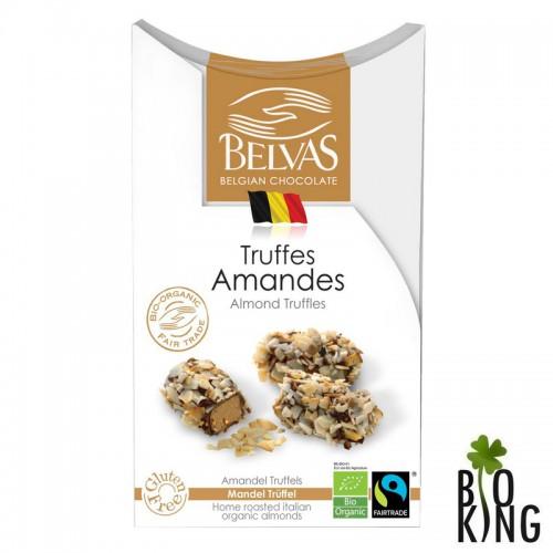 Belgijskie czekoladki trufle z migdałami bezglutenowe