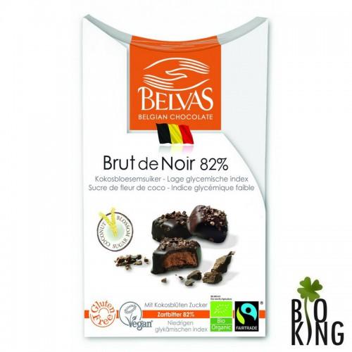 Belgijskie pralinki z gorzkiej czekolady 82%