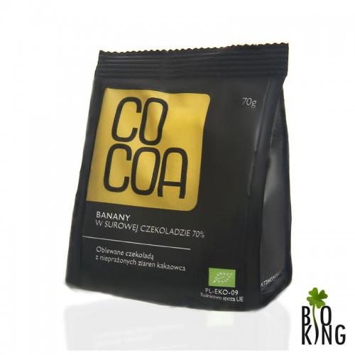 Banany w czekoladzie bio 70% - Cocoa