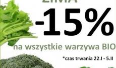 Zielona Zima - warzywa i owoce ekologiczne bio taniej o 15% !!
